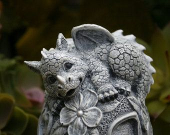 Mother Baby Dragon For Your Fairy Gardens Outdoor Garden Art