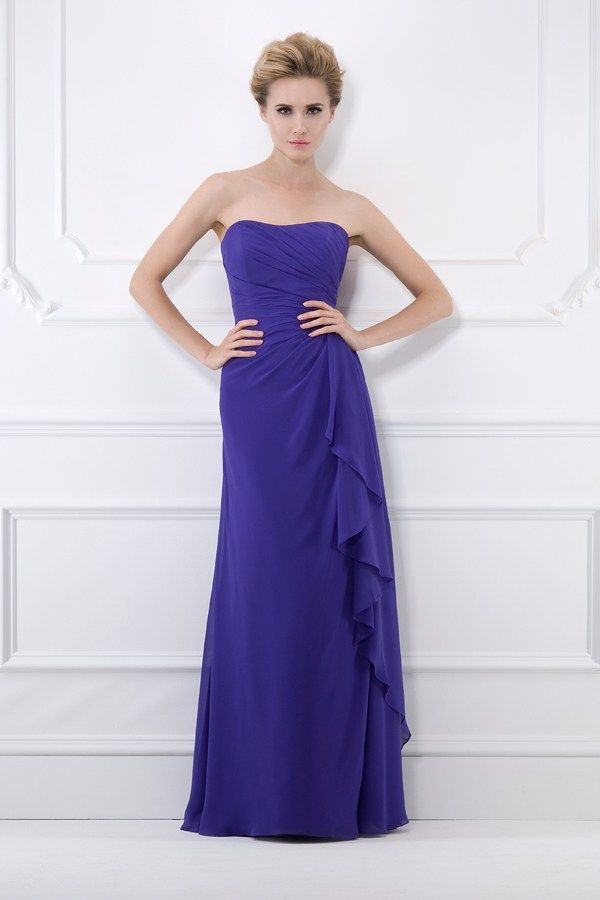 Purple bridesmaid dresses in an array of styles and shapes