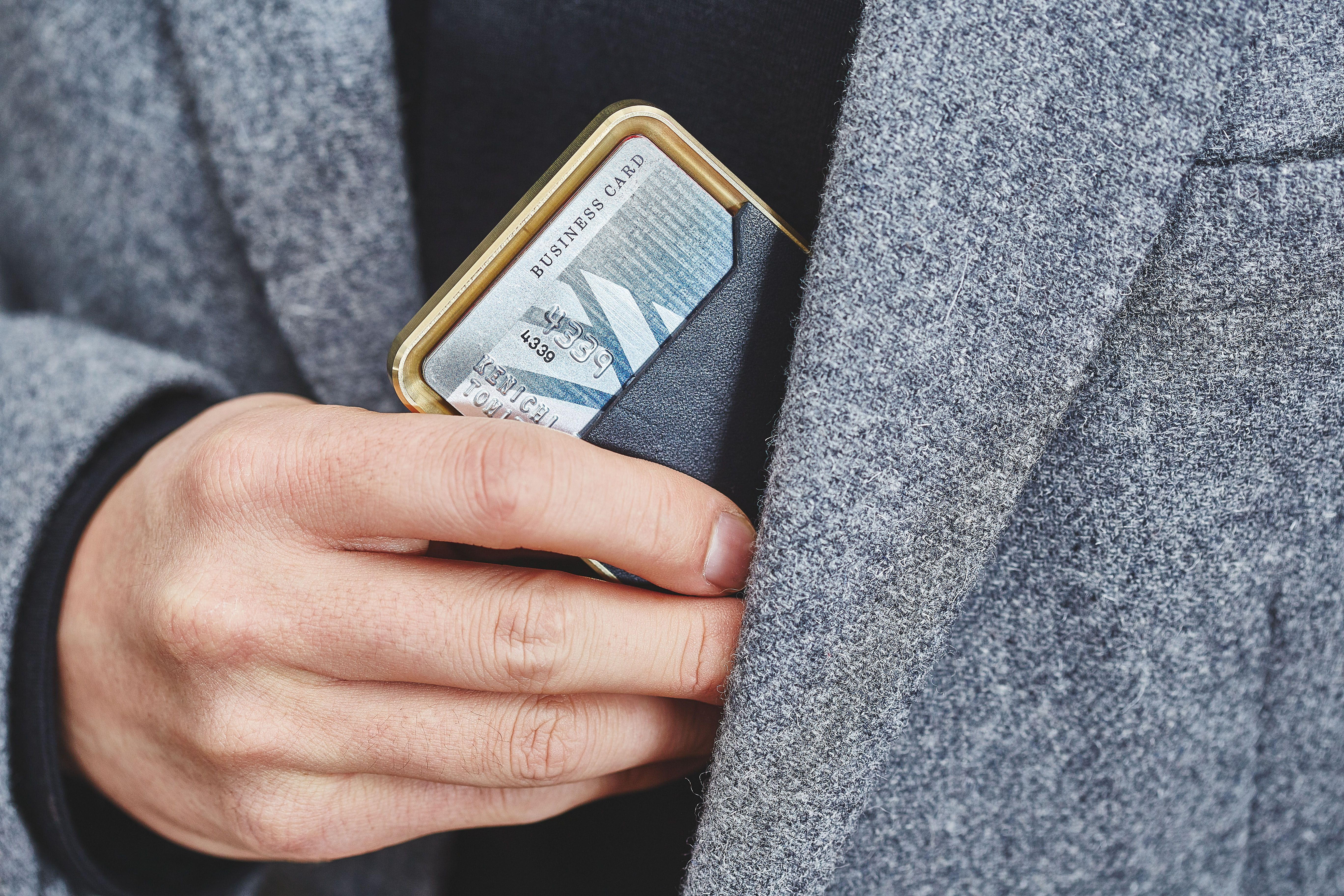 Brass Minimalist Wallet Grovemade Minimalist wallet