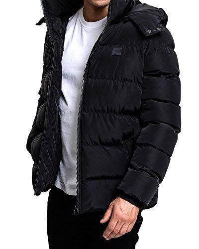 Urban Classics Herren Daunenjacke Winterjacke Hooded Puffer