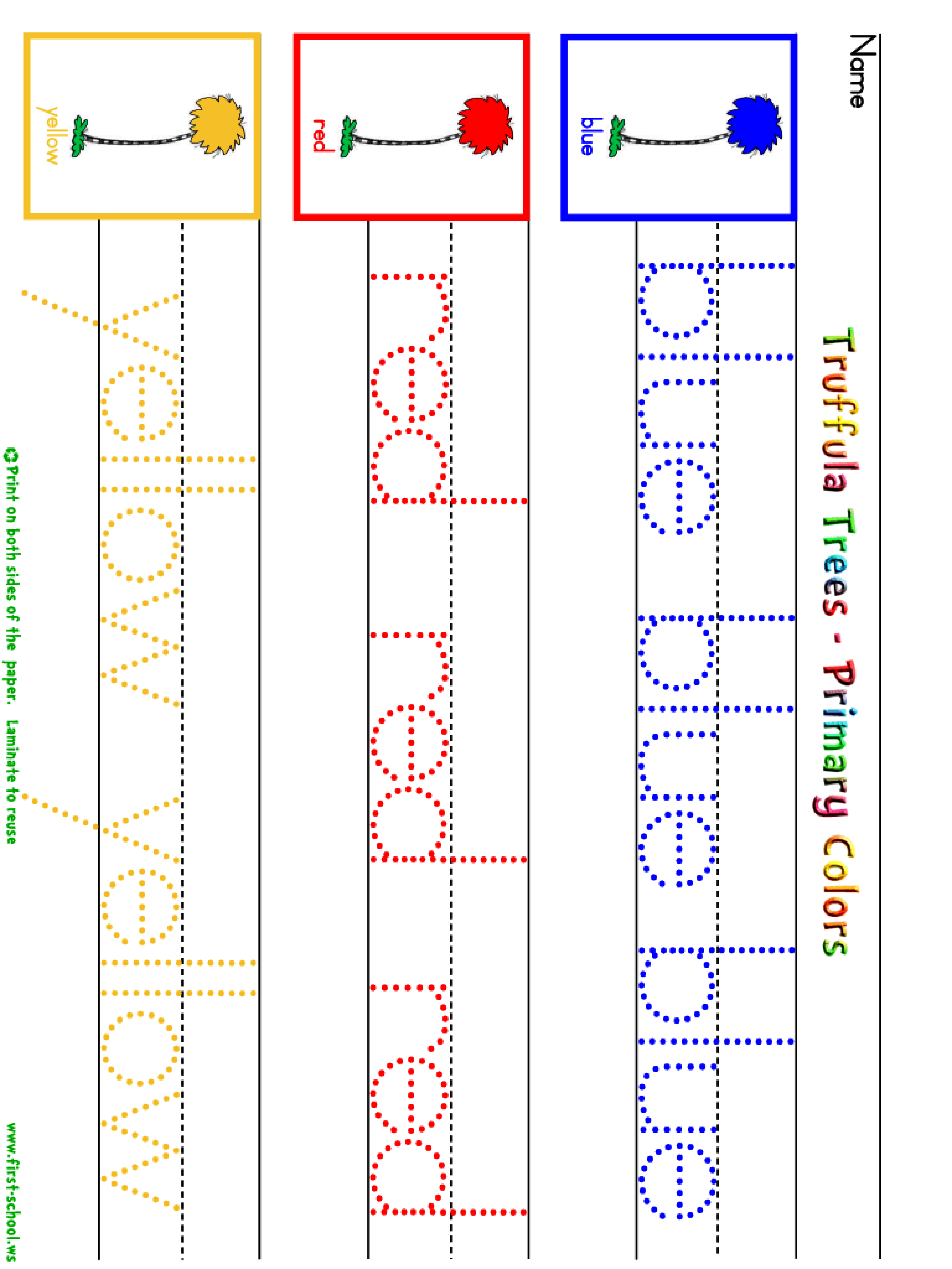 Primary Colors Template