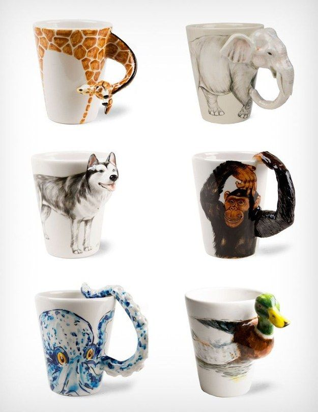 Sip from these wild ceramic mugs.