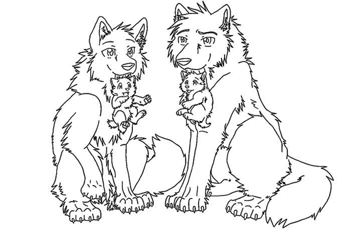 Wolf Cubs Drawings Google Search Anime Wolf Horse Coloring