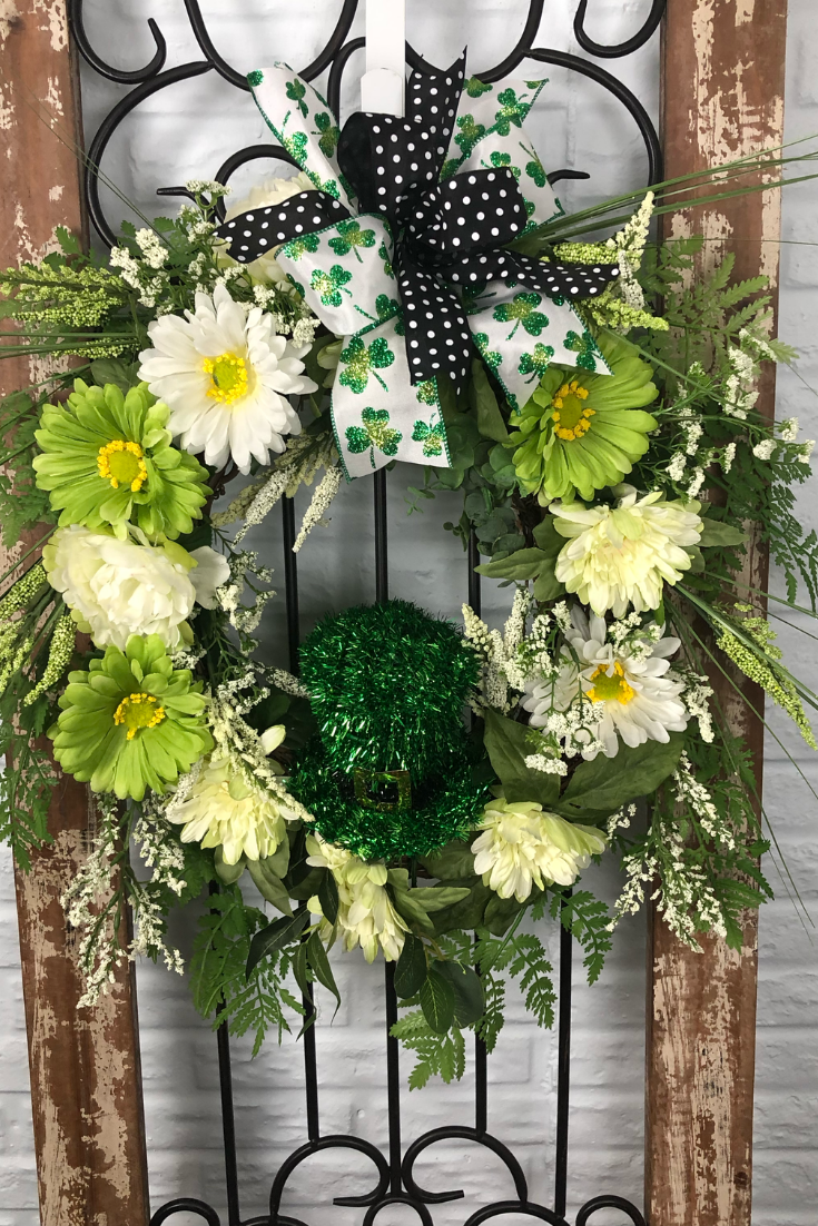 This St.Patrick's Day Wreath is custom designed and