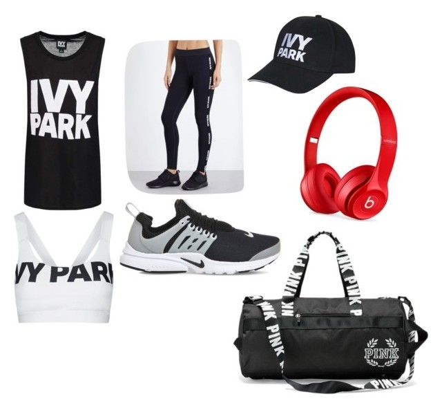 """Gym x💪🏼"" by macie-miller-1 on Polyvore featuring Ivy Park, Topshop, NIKE and Beats by Dr. Dre"