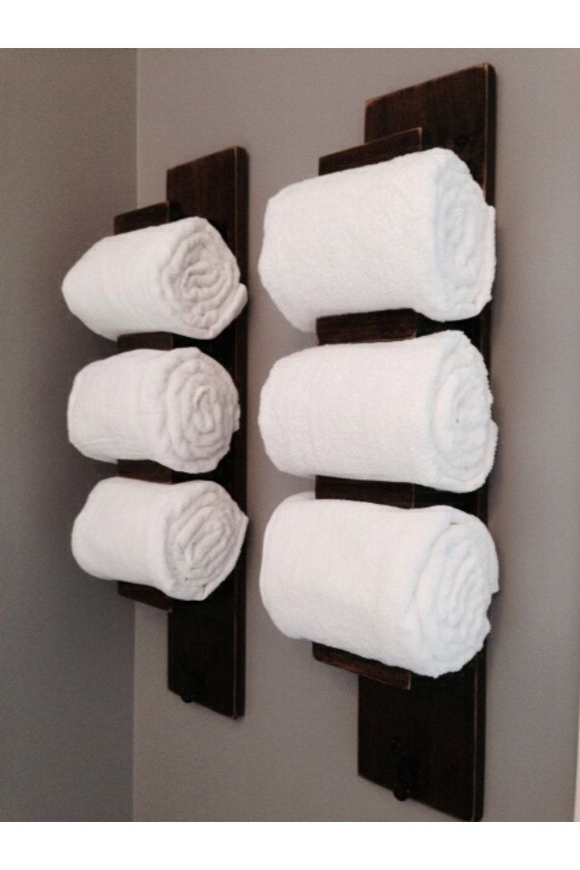 wooden bathroom towel rack by tinbarncreations on etsy