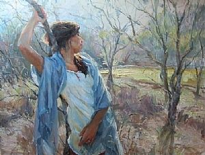 Mon Coeur s'ouvre a ta voix by Gladys Roldan-de-Moras Oil ~ 30 x 40