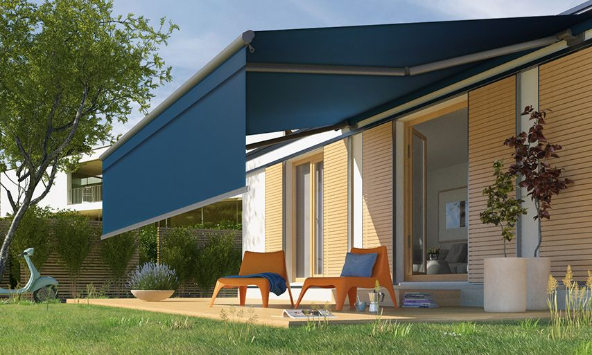 Intelligent Motorised Folding Arm Awnings Powered by Somfy Motors | Outdoor  awnings, Garden awning, Patio awning