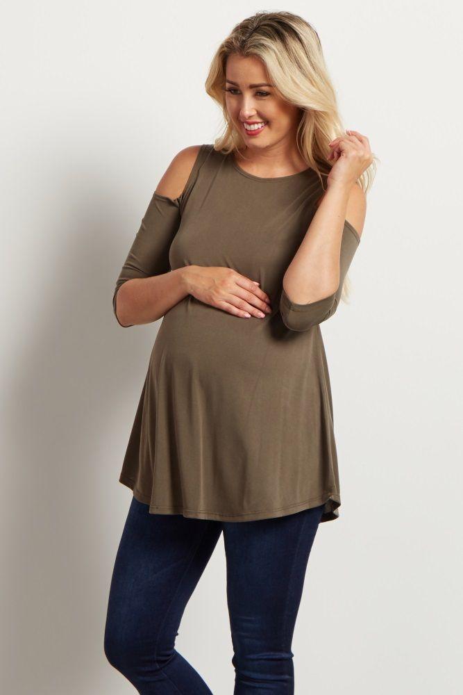 de42d449b051c8 PinkBlush - Where Fashion Meets Motherhood. This cold shoulder maternity top  ...