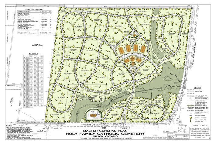 cemetery design, Grever and Ward, Inc. ORCHARD PARK, NY Master Planning