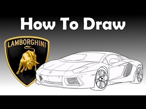How To Draw A Lamborghini Aventador Drawing Tutorial Youtube