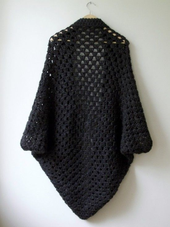 Crochet Cocoon Shrug Pattern Ideas | Ganchillo, Ponchos y Patrones