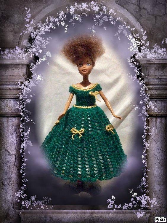 Photo of Barbie dress, doll dress, crochet dress T23-27cm Chic Ro …