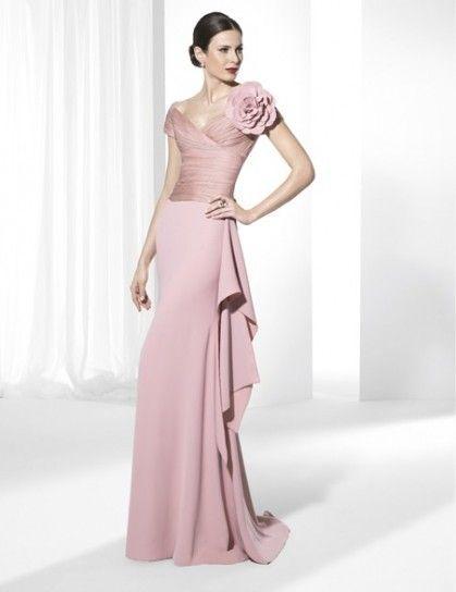 new concept 901e9 6cf3b Abito lungo rosa cipria | Dress | Abiti da sera, Abiti da ...