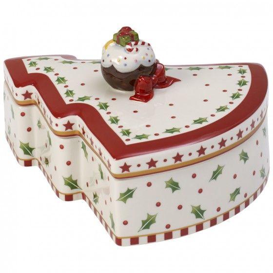Winter Bakery Decoration Boîte à biscuits Sapin de Noël 21cm ...