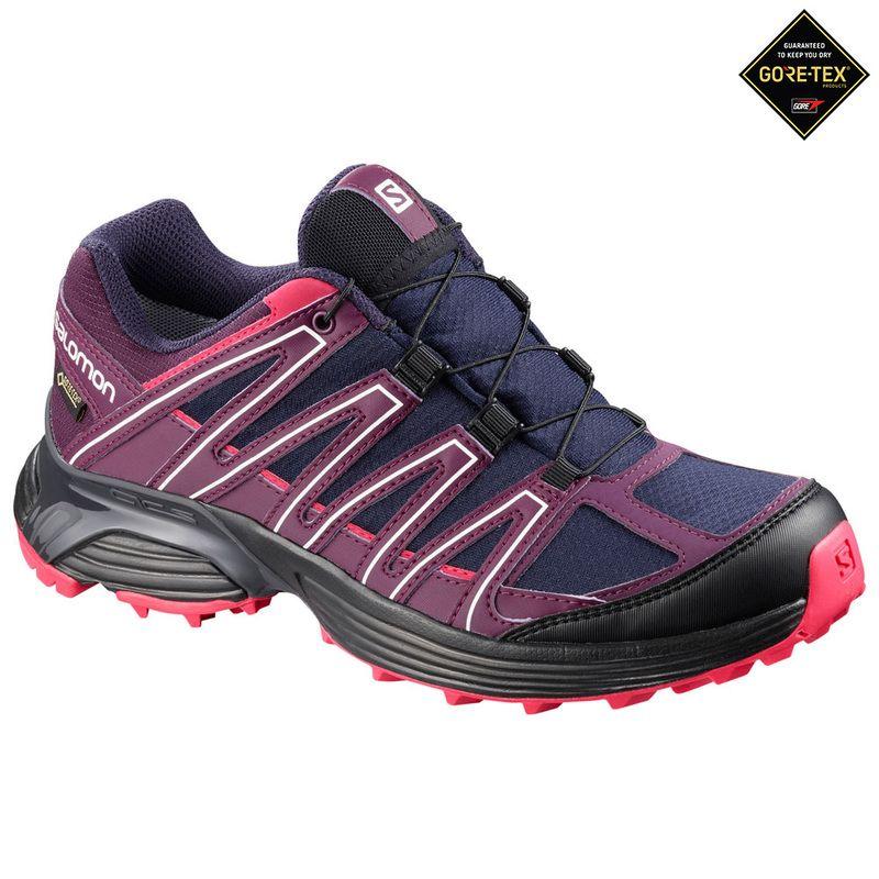 Womens XT Asama GTX Running Shoes (BlueDark Purple). Maybe