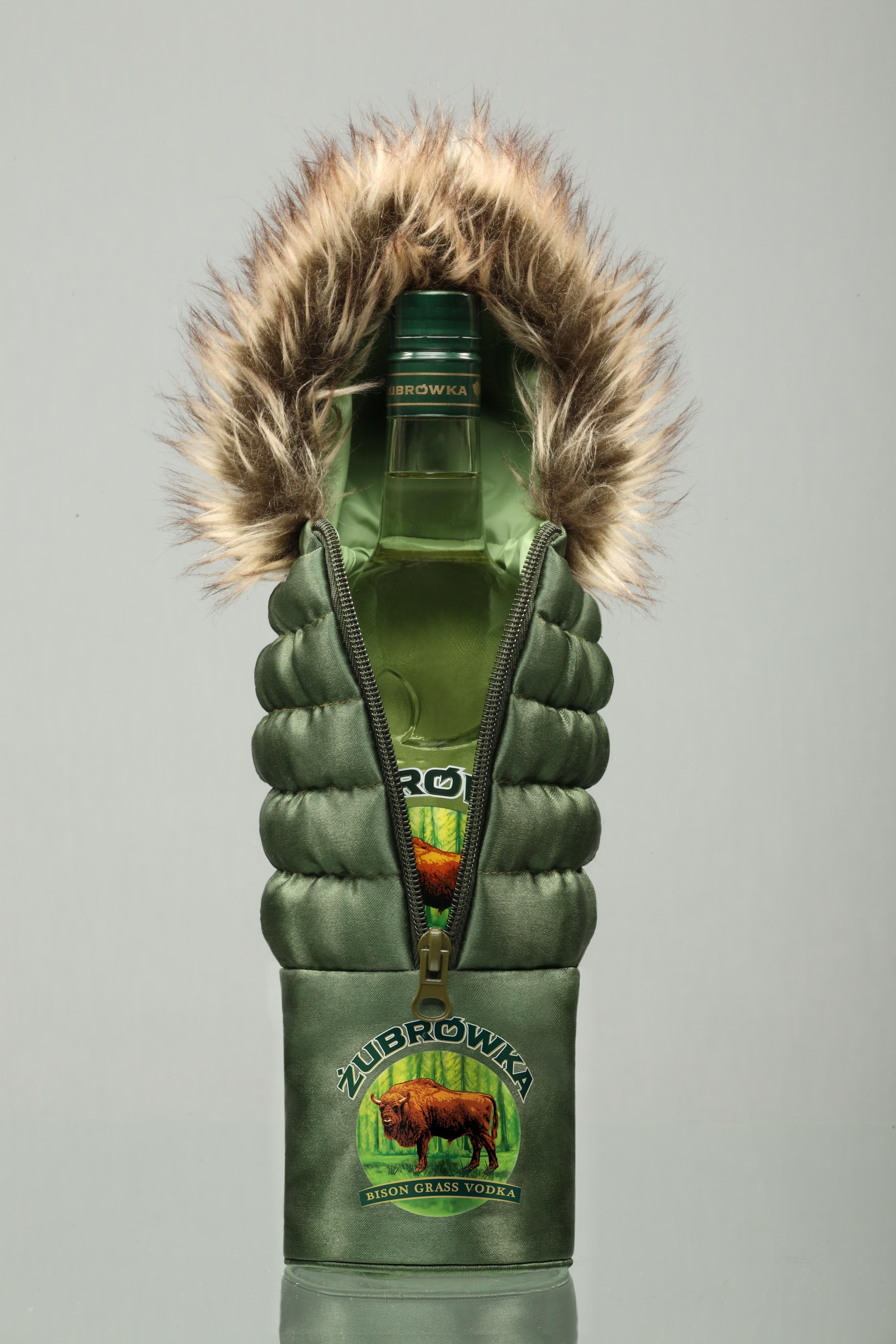 Zubrowka (well wrapped up for winter) Polish vodka