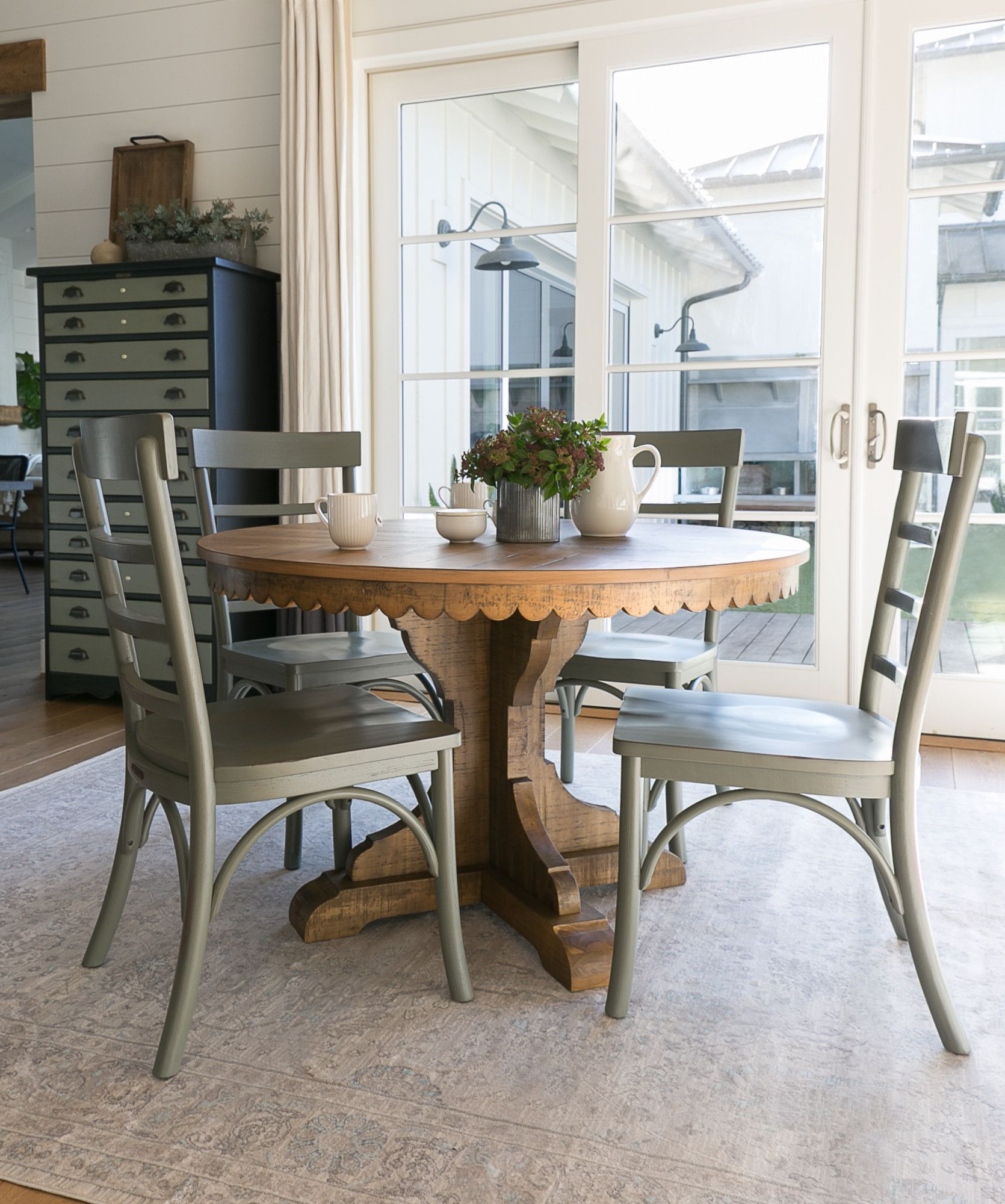 Magnolia Home Top Tier Round Dining Table By Joanna Gaines In 2020 Small Round Kitchen Table Dining Table Round Dining Table