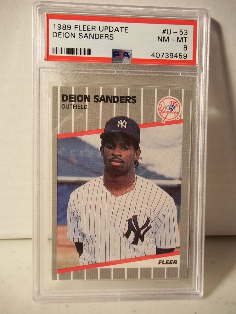 1989 fleer update deion sanders rookie psa nmmt 8