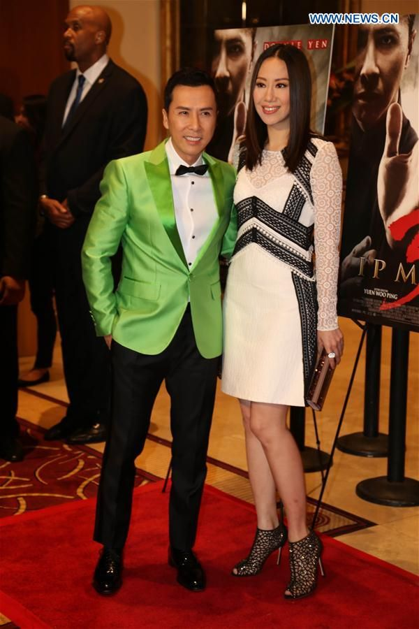 Actor donnie yen and his wife cecilia wang pose for photos at the actor donnie yen and his wife cecilia wang pose for photos at the premiere of stopboris Gallery