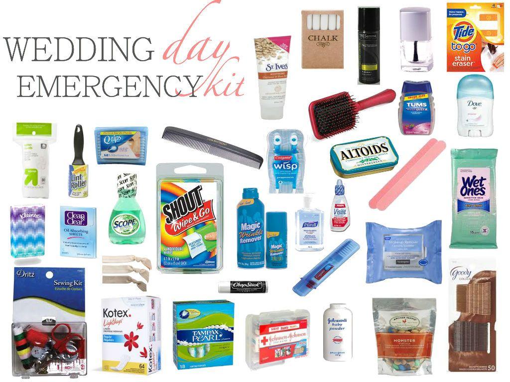 Wedding Day Emergency kit! Great idea!!! Wedding