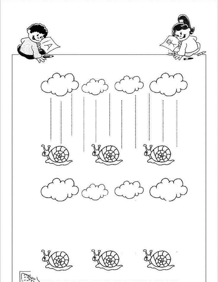 free fall trace line worksheets (3) | Crafts and Worksheets for ...