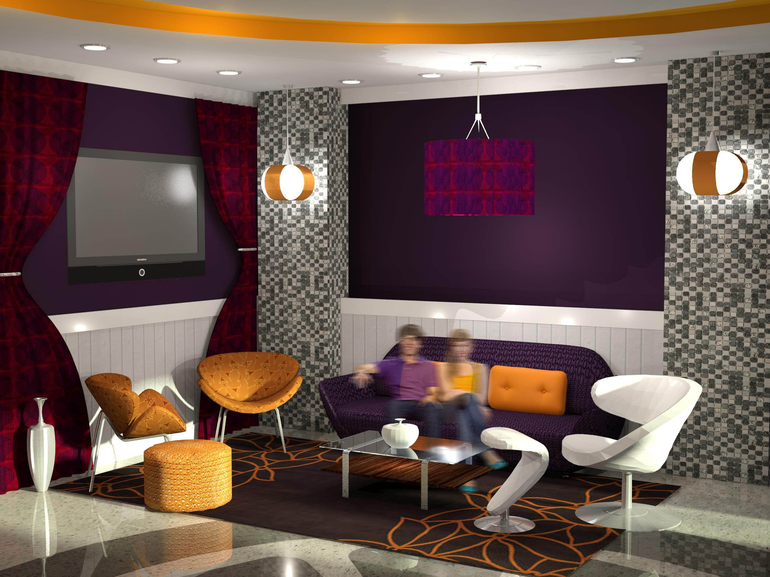 Lounge by ringling college interior design student rianna straw