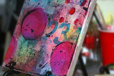 pink soul studios | mixed media art canvas