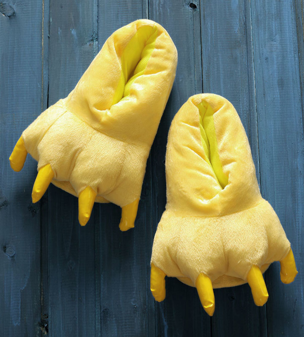 Photo of Yellow Claw Shoes Unisex Animal Soft Plush Home Slippers Cosplay Costume Paw Claw Shoes