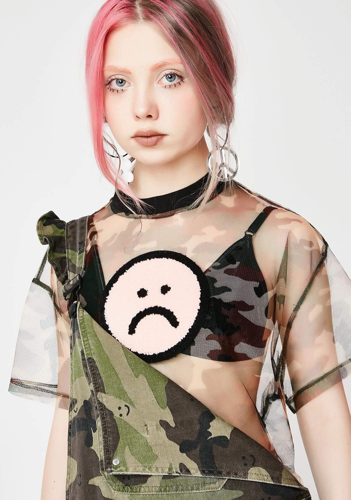 Camo Mesh Tee #boydollsincamo Lazy Oaf Camo Mesh Tee at Dolls Kill, an online punk, goth, rave, kawaii, and streetwear clothing store. FAST & FREE WORLDWIDE SHIPPING. Shop trends and your favorite brands like Lime Crime, Wildfox Couture, Killstar, BOY London, and Y.R.U. #boydollsincamo