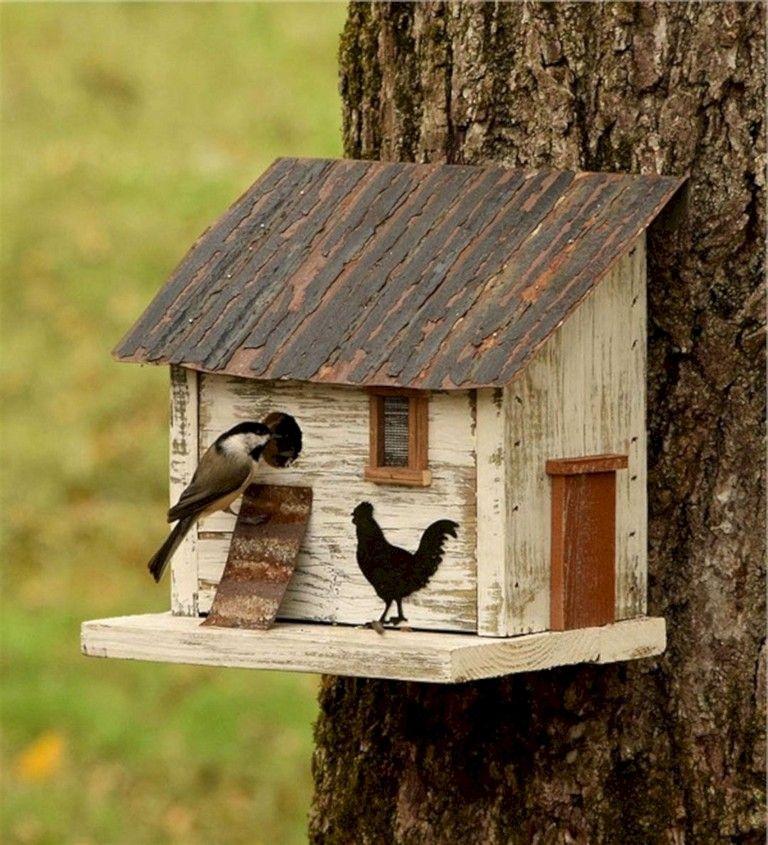 36+ Best Popular Birdhouses Rustic For Your Beautiful Garden #birdhouses