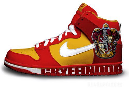 Nike shoes showing off the love for Gryffindoor | Harry