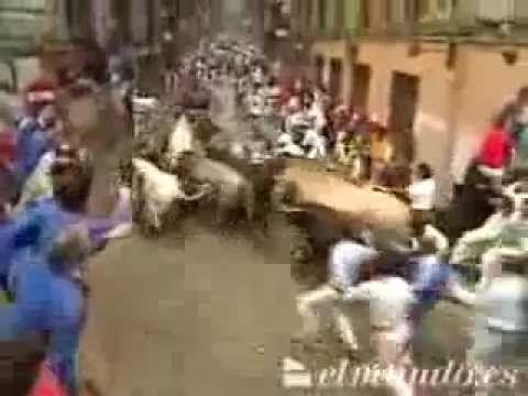 Encierro San Fermín - 11 de julio de 1993 - YouTube
