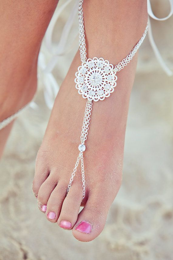 Foot Jewelry Barefoot Sandals By PassionflowerJewelry Beautiful For A Beach Wedding TB