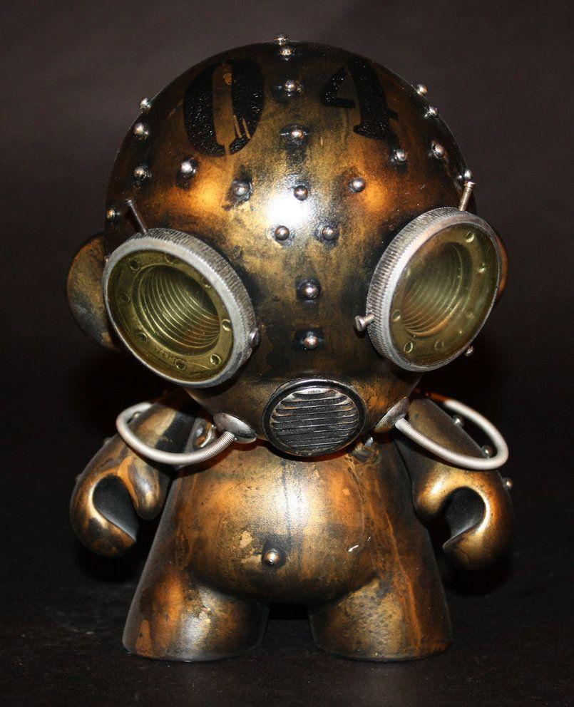 Aqua Robot Munny Harris Built Steampunkery