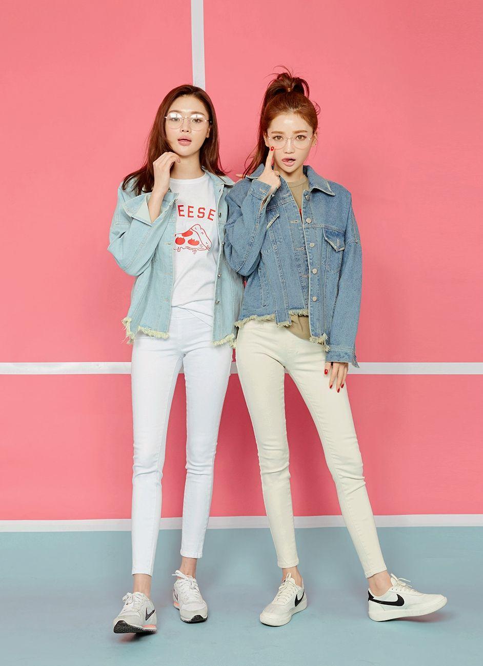 #korean, #fashion, #ootd, #denim, #Look