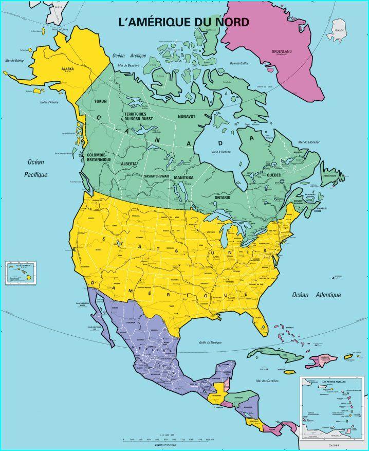 amerique du nord carte L'Amérique du Nord (avec images) | Carte amerique, Amérique du