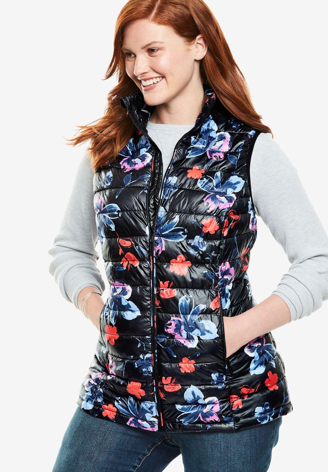 af38881d657a6 Packable puffer vest - Women's Plus Size Clothing | Products | Vest ...