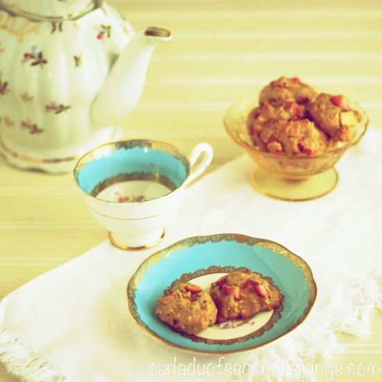 Rhubarb Oatmeal Cookies | Our Lady of Second Helpings