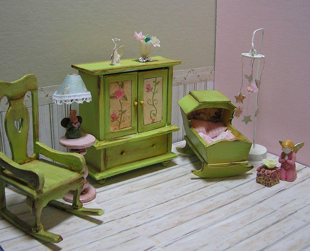 Dollhouse Miniature Nursery Dollhouse Miniature Nursery