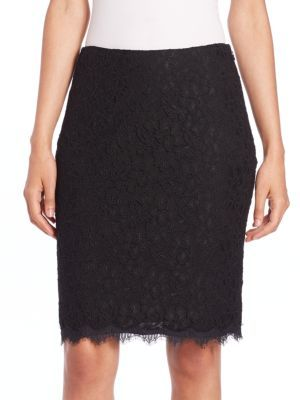 DIANE VON FURSTENBERG Cloe Lace Pencil Skirt. #dianevonfurstenberg #cloth #skirt