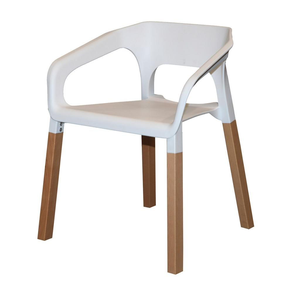 Antonio Dining Chair In White $149 ClickOn Furniture, Modern, Plastic  Moulded Seat, Solid