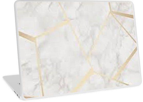 'MARMOR GOLD' Laptop Folie von GluecksMantra Iphone