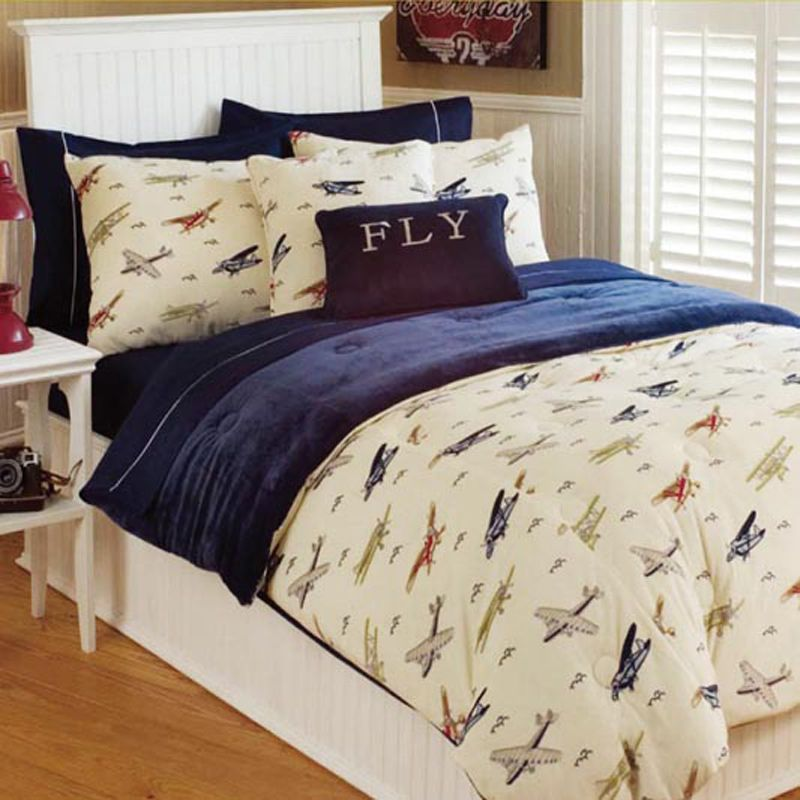 Vintage Airplane Comforter Set Kid Stuff Pinterest