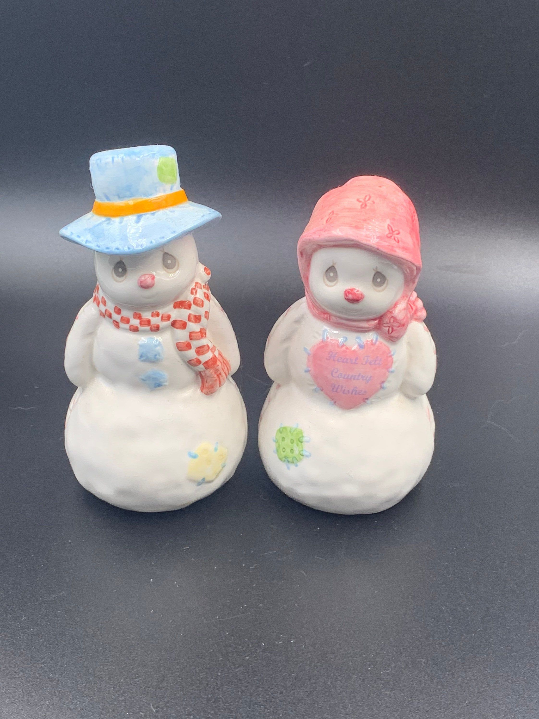 Precious Moments Vintage Christmas Ornaments 2020 Vintage 1998 Precious Moments Snowmen Salt & Pepper Shakers   Etsy