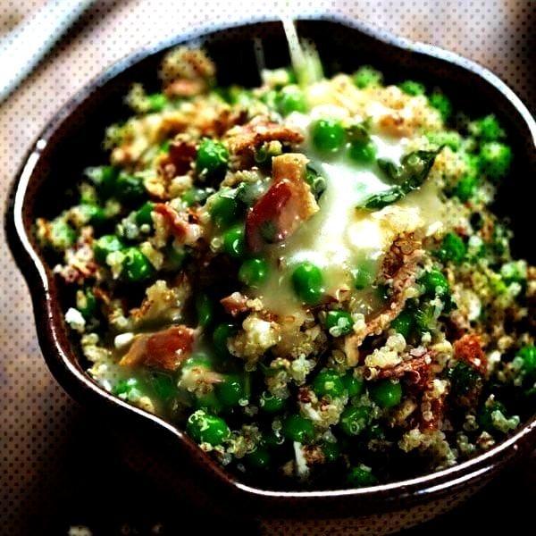 Quinoa Salad with Honey Lemon Vinaigrette - Pinch of YumSpring Quinoa Salad with Honey Lemon Vinaig