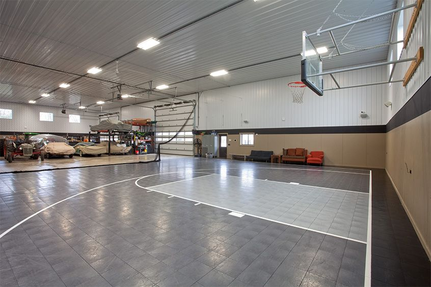 Indoor Basketball Court Storage Pole Barn Indoor Basketball Court Metal Barn Homes Metal Shop Houses
