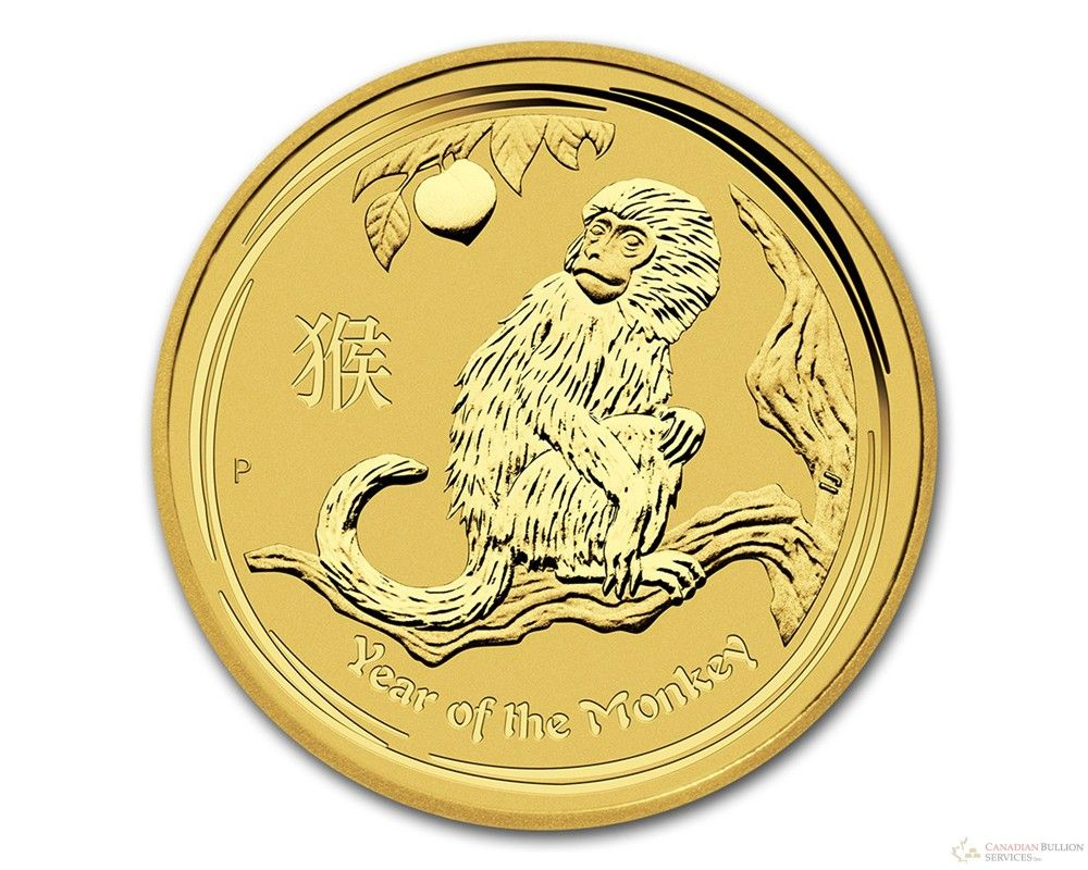 1 4 Oz 2016 Perth Mint Year Of The Monkey Gold Coin