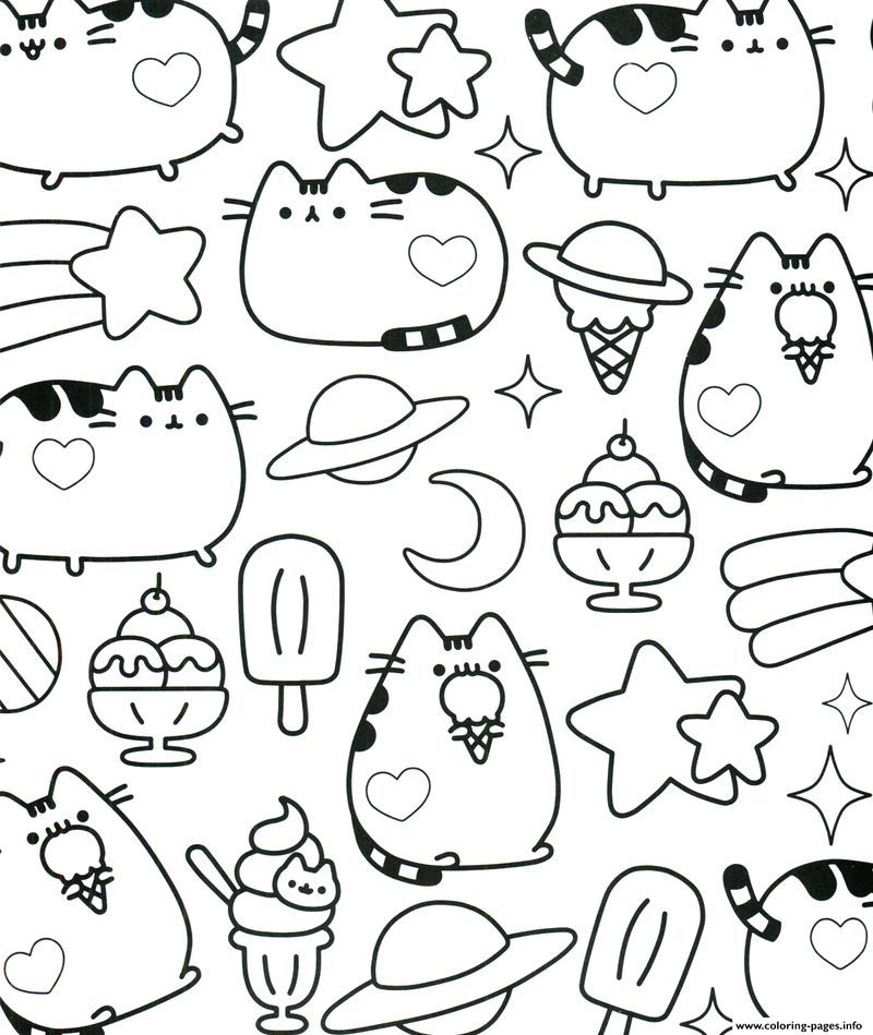 Get These Pusheen Coloring Pages And Have Fun With It is part of Pusheen coloring pages - Do you like to color a line art  If you do, you must ever find some kinds of cute coloring pages  In relation to the cute pages, have you ever used Pusheen coloring pages  For you who have never done it, you must try it  The picture of Pusheen is very cute since it is a female cartoon cat with a pretty appearance