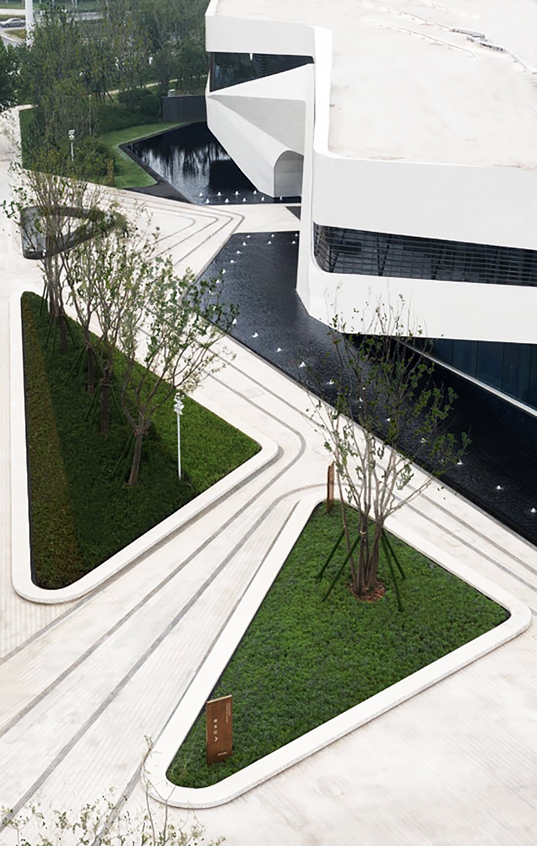 Zhengzhou Longhu Financial Island City Showroom Z Scape 致 舍 电影 Urbandesignarchitect In 2020 Urban Design Architecture Landscape Architecture Architecture Courtyard